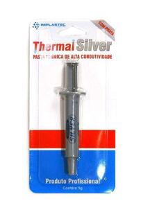 Pasta Térmica Seringa 5g Implastec Thermal Silver Prata