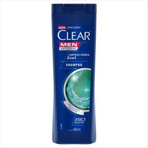 Kit 6 shampoo clear men 400 ml