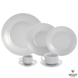 Aparelho de Jantar 42 Peças Super White Anacapri - Wolff - R$396