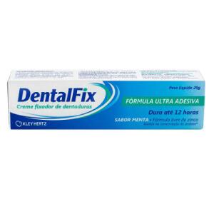DentalFix Creme Fixador Para Dentaduras Sabor Menta 20g - R$2,49
