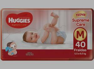 Fralda Huggies Turma da Mônica Supreme Care-Tam. M 5,5 a 9,5kg 40 Unidades