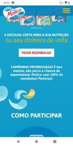 Experimente Molico Grátis - Nestlé ( ATENÇÃO: Somente um produto por nota)