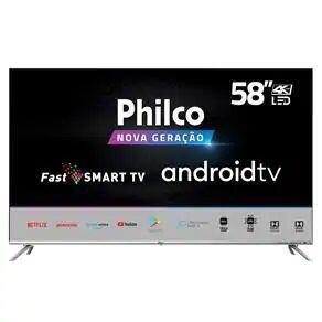 "Smart TV LED 58"" UHD 4K Philco PTV58G71AGBLS Inteligência Artificial / Sistema Android"
