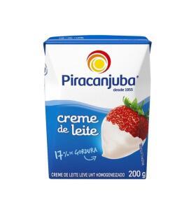 [APP Leve 5 Pague 4] Creme de Leite Integral 200g-Piracanjuba