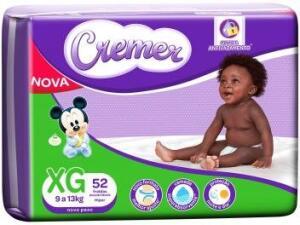 (App+Club da Lu+L4P3) Fralda Cremer Disney Baby Tam. XG - 9 a 13kg 52 Unidades