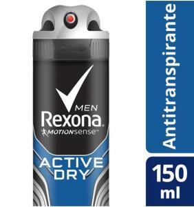 Desodorante Antitranspirante Rexona Active Dry/Azul 150ml   R$ 3