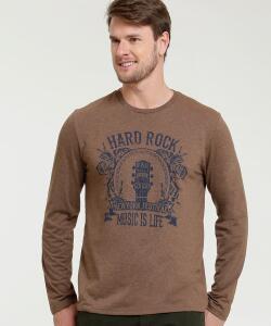 Camiseta Masculina Estampada Manga Longa MR