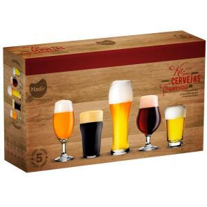 Conjunto de Copos para Cervejas Especiais Nadir – 5 Peças | R$ 40