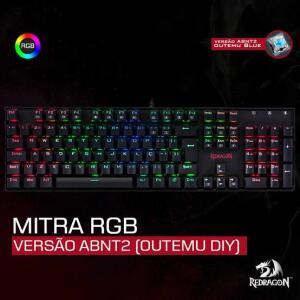 Teclado mecânico Redragon Mitra Rgb Switch Brown   R$ 250