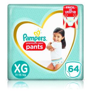 [Leve 3, Pague 2] Pampers Pants premium Care 64 unidades - R$ 75