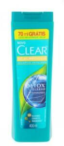 Shampoo Clear Detox Diário 400ml | R$13