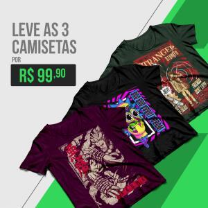 3 CAMISETAS Nerd ao Cubo POR R$100