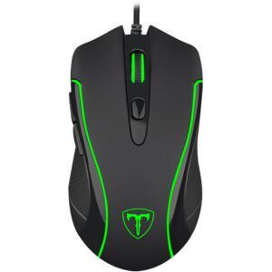 Mouse Gamer T-Dagger Private RGB 3200 DPI, 6 Botões, Black | R$ 55