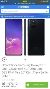 [VOLTOU] Smartphone Samsung Galaxy S10 Lite 128GB | R$1.970