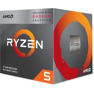 Processador AMD Ryzen 5 3400G 3.7GHz (4.2GHz Turbo), 4-Cores 8-Threads, Cooler Wraith Stealth, AM4 | R$960