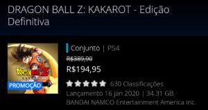 DRAGON BALL Z: KAKAROT - Edição Definitiva [PS STORE]