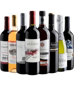 Kit 8 vinhos por R$223 | R$27,90 por garrafa
