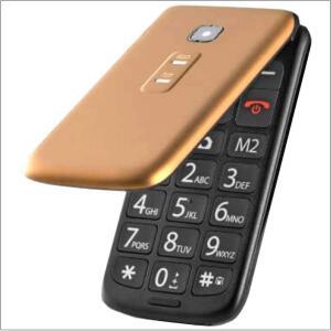 Celular Flip Vita Dual Chip MP3 Dourado Multilaser - P9043 - R$149