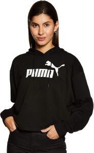 Blusa de moletom ESS+ Logo Cropped Hoody PUMA Feminino