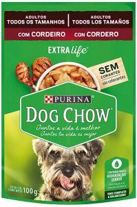 [PRIME] 6 Sachês Ração Úmida PURINA DOG CHOW p/ Cães Adultos - Cordeiro ao Molho 100g | R$9,35