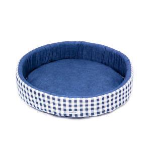 Cama Redonda Azul Fábrica Pet - Tam G | R$54