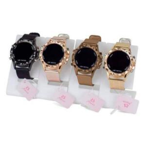 Kit 4 Relógios Feminino Led Dourado - Orizom - R$ 102