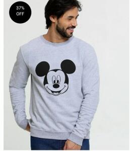 Blusão Masculino Moletom Mickey Disney