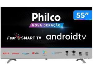 "Smart TV UHD D-LED 55"" Philco PTV55Q20AGBLS - Android"
