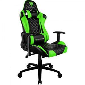 Cadeira Gamer Profissional TGC12 Preta/Verde ThunderX3 | R$1.340