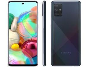 "[1x] Samsung Galaxy A71 128GB Preto 6GB RAM - Tela 6,7"" Câm. Quádrupla Câm. + Selfie 32MP - R$1799"