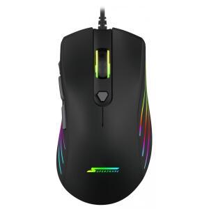 Mouse Gamer Super Frame, BIG BOSS, 12000 DPI, RGB, 7 Botões, Black, RM-X31