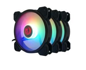 Kit Fan com 3 Unidades Redragon F009, RGB, 120mm, com controle