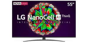 Smart TV LG 55'' 55NANO81 Ultra HD 4K NanoCell IPS | R$3.060