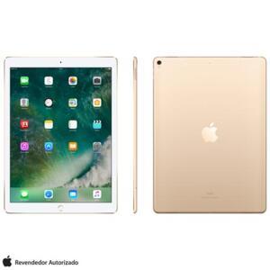 """MODELO COM 4G: iPad Pro 2° Geração Dourado com Tela de 12,9"""", 4G, 64 GB - MQEF2BZ/A - AEMQEF2BZADRD"""