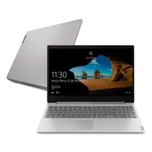 "Notebook Lenovo Ultrafino ideapad S145 i7-1065G7 8GB 256GB SSD Windows 10 15.6"" 82DJ0000BR Prata"