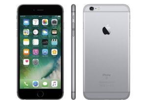 "iPhone 6s Plus Apple 128GB Cinza Espacial 4G - Tela 5.5"" Retina Câm. 12MP + Selfie 5MP iOS 10"