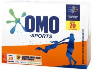 Sabão em Pó Omo Sports - 1,6kg R$15 [R$9,90 Magalupay]