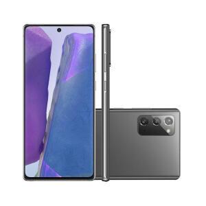 Smartphone Samsung Galaxy Note 20 256GB Mystic Gray 5G Tela 6.7 Pol. Câmera Tripla 64MP Selfie 10MP Android 10