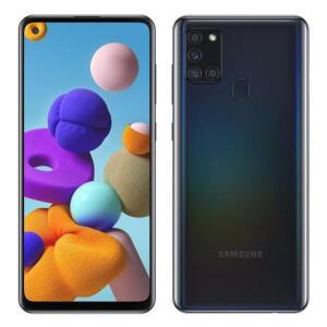 "Galaxy A21s, Preto, Tela 6.5"", 4G+WI-Fi, Android 10, Câm Traseira 48+8+2+2MP e Frontal 13MP, 64GB R$1061"