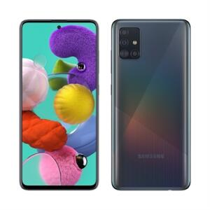 "Samsung Galaxy A51, Dual Chip, Preto, Tela 6,5"", 4G+WiFi+NFC, Android, Câm Traseira 48+12+5+5MP e Frontal 32MP,128GB"