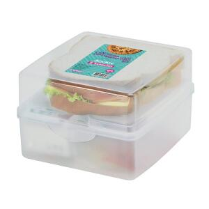 [PRIME] Sanduicheira Dupla Sanremo - Pote - Plástico Transparente   R$8,59