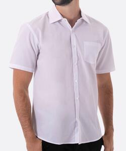 Camisa masculina manga curta básica branca - Yacht Master
