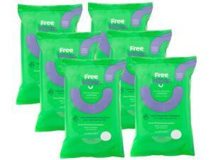Kit lenço umedecido antisséptico Free Wipes | R$35