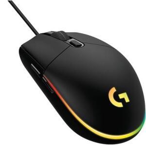 Mouse Gamer Logitech G203 RGB Lightsync, 6 Botões, 8000 DPI, Preto