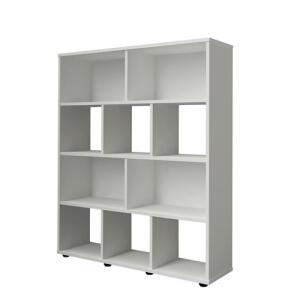Estante Para Livros Rack Book10 Nichos Branco Artely | R$ 143