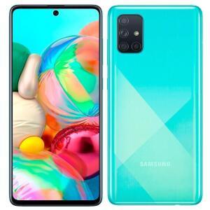 "Smartphone Samsung Galaxy A71, Azul, Tela 6.7"", 4G+Wi-Fi+NFC, Android 10, Câm Traseira 64+12+5+5MP e Frontal 32MP, 128GB"