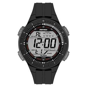 Relógio Mormaii Masculino Preto Pulseira Polímero Preto R$140