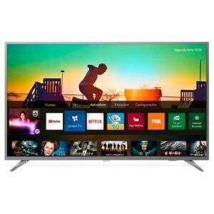 Smart TV Philips 58´ UHD 4K, 3 HDMI, 2 USB, Wi-Fi, HDR, Prata - R$2499