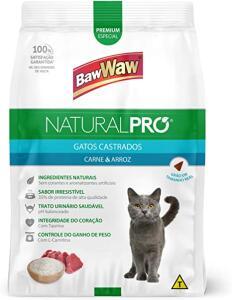 Ração Baw Waw Natural Pro gatos sabor Carne e Arroz - 2,5kg