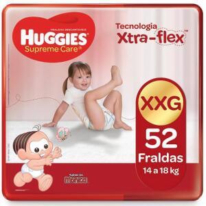 60%OFF na segunda compra em Fralda Huggies Supreme Care XXG| R$ 33,59 cada.